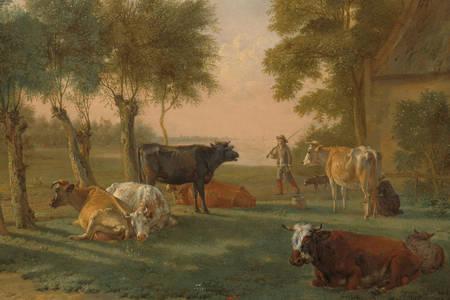 """Πάουλους Πόττερ: """"Αγελάδες σε ένα λιβάδι κοντά σε ένα αγρόκτημα"""""""