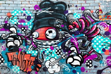 Bright graffiti on the wall