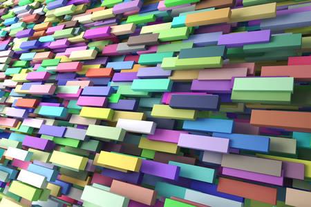 Abstrakcja 3D: równoległe prostokąty
