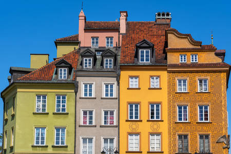 Houses in the Old Town of Warsaw