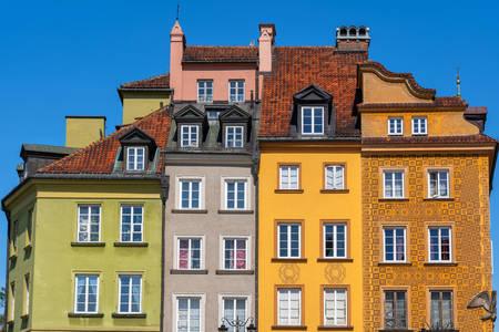 Kuće u starom gradu Varšave