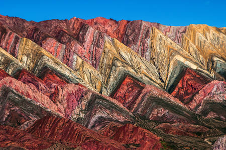 Colored mountains of Argentina