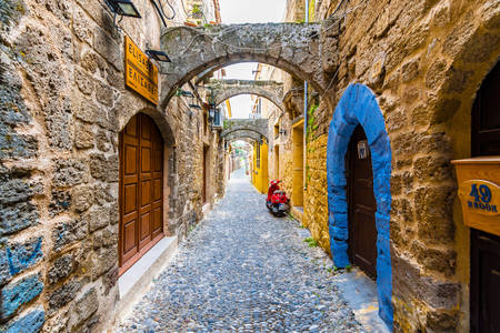 Streets of the Old Town of Rhodes