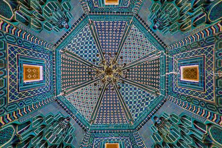 Ceiling in the mausoleum of Shahi Zinda