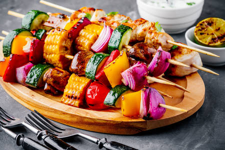 Vegetable shish kebab