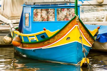 Maltese traditional boat luzzu