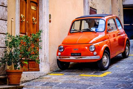 Retro car on the streets of Verona