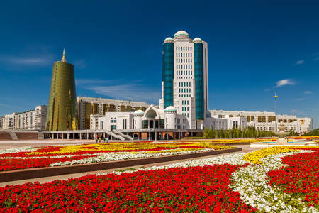 View of the Parliament of the Republic of Kazakhstan