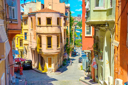 Street panorama in Istanbul