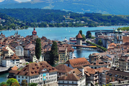 Panorama of the city of Lucerne