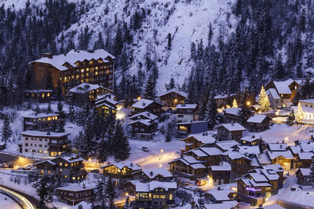 Courchevel di notte