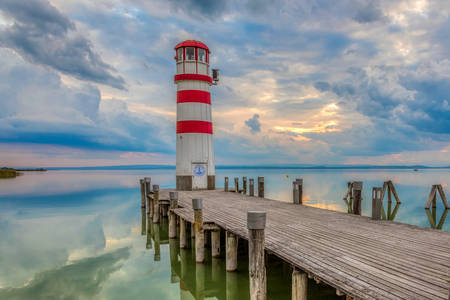 Lighthouse on Lake Neusiedler See