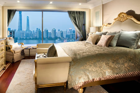 Bedroom with a magnificent view from the window