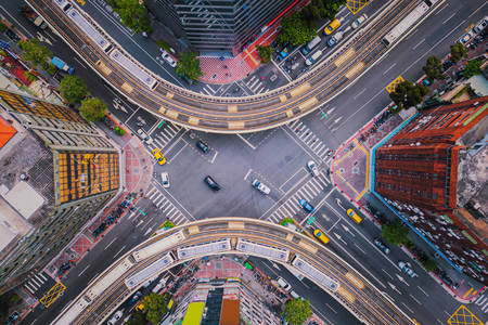 Перехрестя центру міста Тайбей
