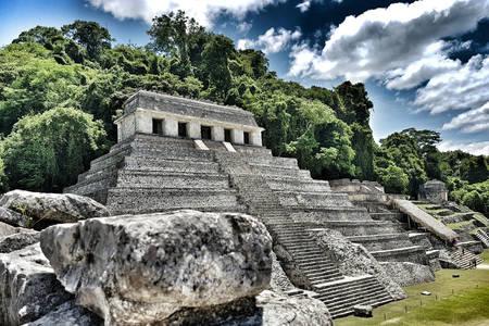 Mayské mesto - Palenque