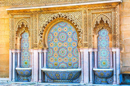 Fountain in the Mausoleum of Mohammed V in Rabat