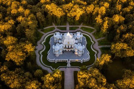 Pogled odozgo na Ermitažni paviljon