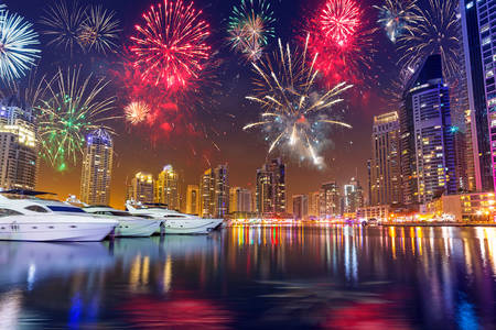 Feux d'artifice à Dubaï