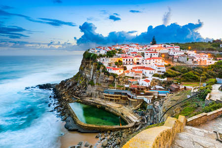 The seaside town of Azenhas do Mar