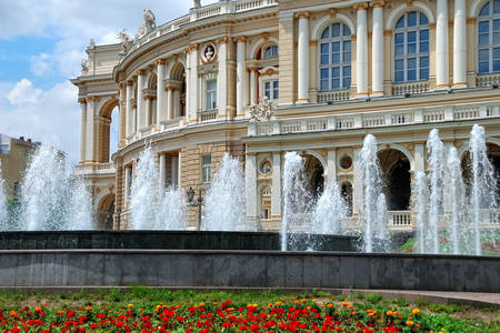 Fountains at the Opera House in Odessa