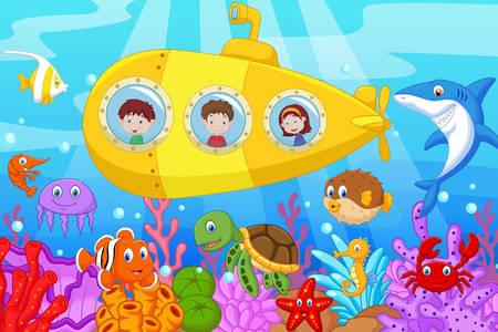 Дети в подводной лодке