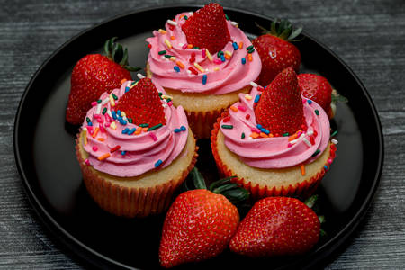 Des muffins aux fraises