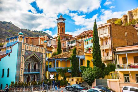 Blick auf die Tiflis-Moschee