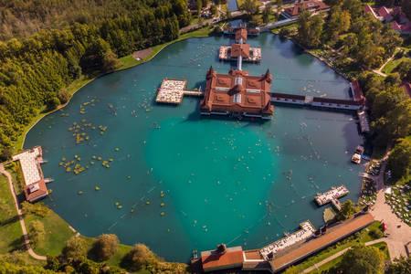 Top view of Lake Heviz