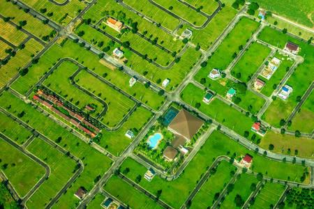 Widok z lotu ptaka na kwartał na Filipinach