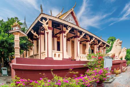 The main temple of Wat Phnom in Phnom Penh