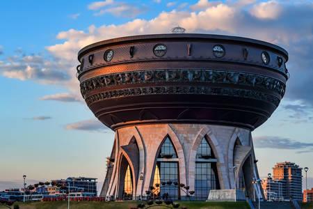 """Family center """"Kazan"""" at sunset"""