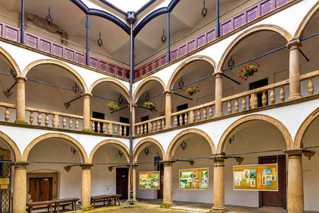 Arcade courtyard of the Old ywiecki castle