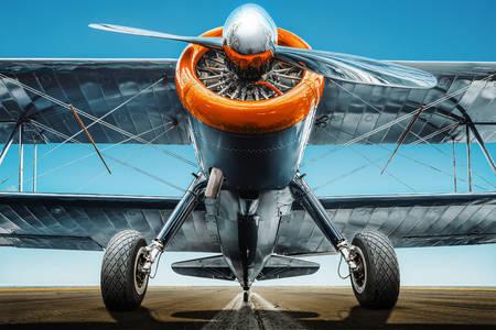 Sport plane close up