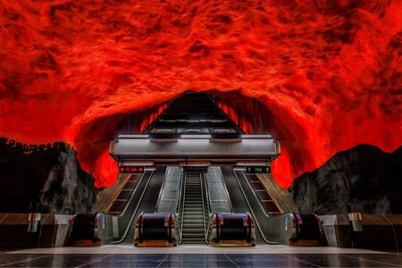 Solna-Sentrum metro station