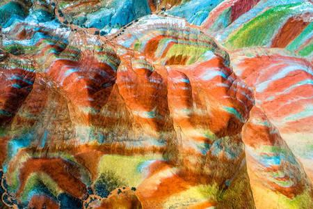 Colorful rocks of Zhangye Danxia