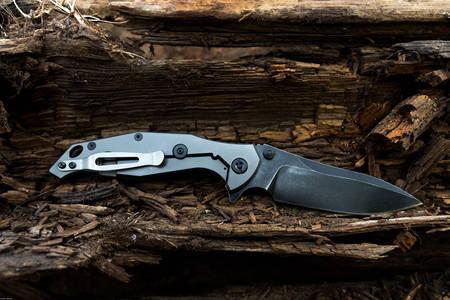 Titanium Handle Folding Knife