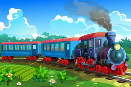 Син влак