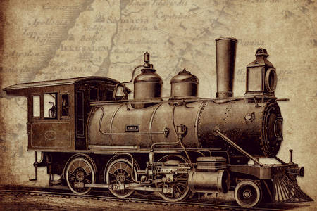Vintage locomotive