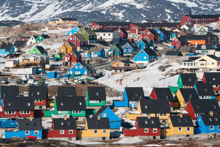 Colorful houses in Ilulissat