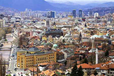 Panorama of Sarajevo