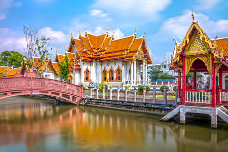 Marmurowa świątynia w Bangkoku