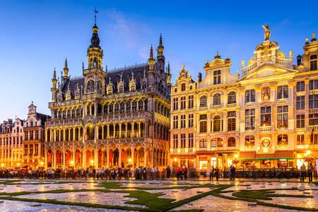 Plaza en el centro de Bruselas