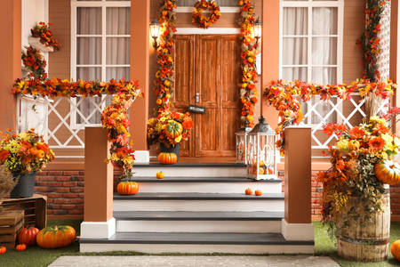Autumn facade decoration