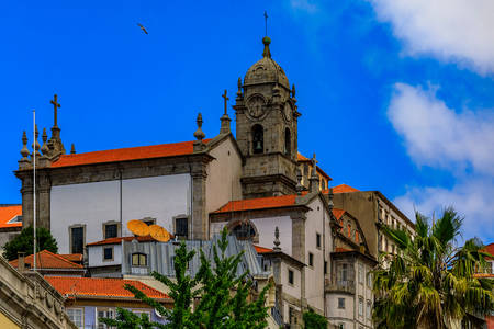 Architecture of houses in the city of Porto