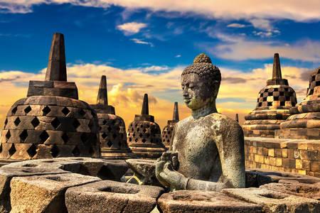 Borobudur na ilha de Java