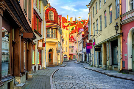Strada nella vecchia Tallinn