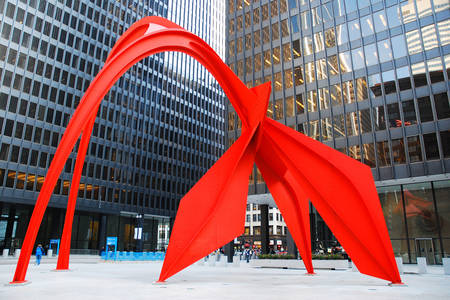 "Sculpture ""Flamingo"" in Chicago"