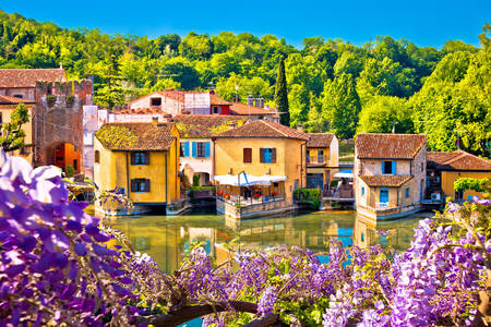 Borghetto aan de rivier de Mincio