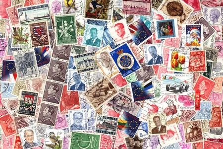 Belgium postage stamps collection