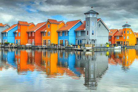 Colorful houses in Groningen
